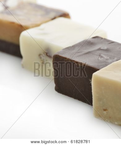 Chocolate Fudge Squares,Close Up