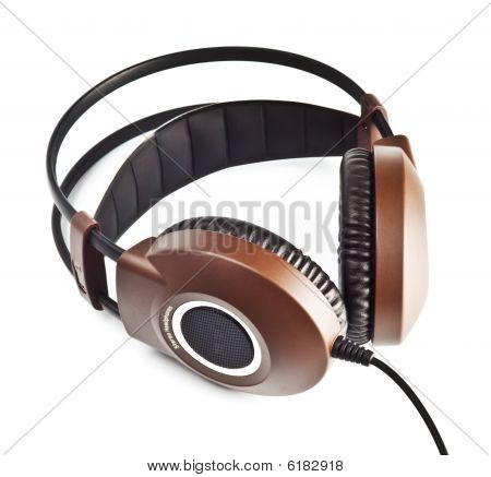 Stereo Headphones Isolated On White