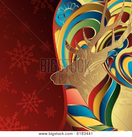 Abstract Christmas Deer
