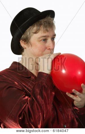 Woman balloon