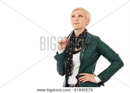 Young Woman  In Casual Outfit Thinking