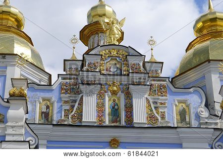 Pediment With Frescoes Of St. Michael's Cathedral