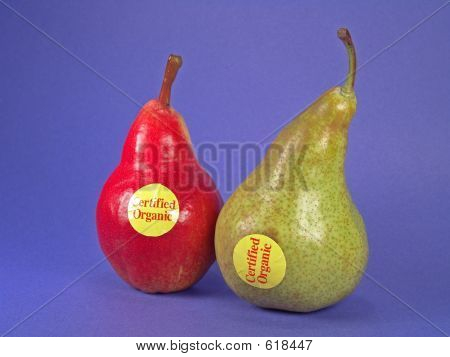 Red, Green Certified Organic Pears