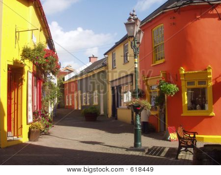 Bunte Kinsale Straßen Irland