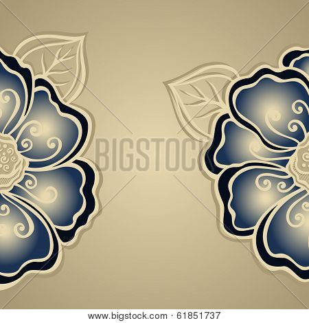 Vector Colored Floral Layout.