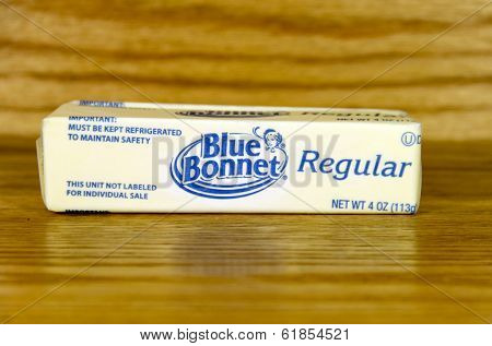 Stick Of Blue Bonnet Margarine