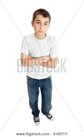 Boy In Casual Clothes