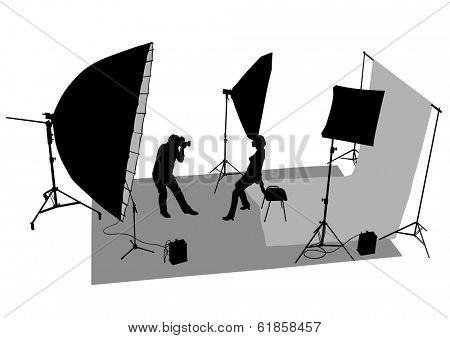 Lighting equipment for photographic studios