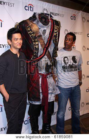 LOS ANGELES - MAR 19:  John Cho, Headless Horseman, Orlando Jones at the PaleyFEST -