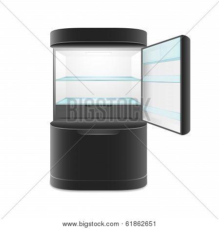 Modern two door black refrigerator