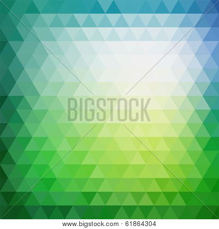 Retro mosaic pattern of geometric triangle shapes