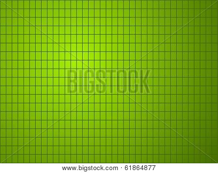 Green Background With Quadrilateral Pattern