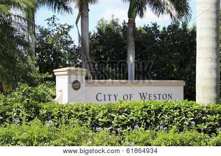 City Of Weston, Florida Sign