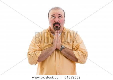 Religious Man Praying To God
