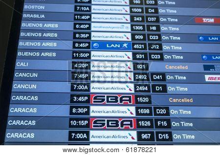 Air Travel Schedule