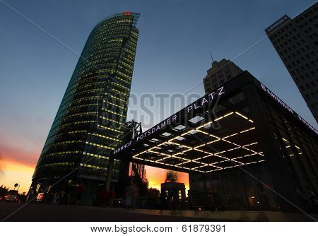 The Potsdamer Platz At Night