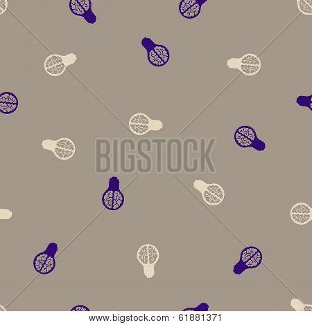 seamless background: brain, lightbulb