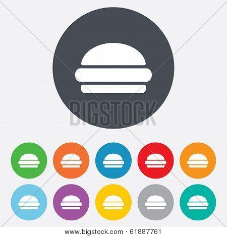 Hamburger sign icon. Fast food symbol.