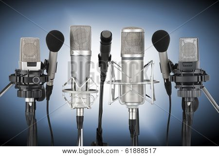 Set Of Professional Microphones