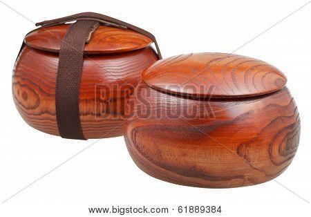 Pair Of Wild Chinese Jujube Date Wood Bowls