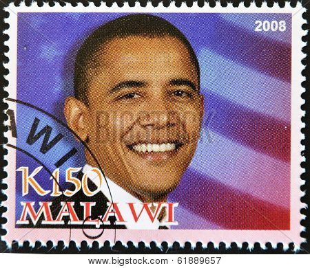 MALAWI - CIRCA 2008 : 44th President of United States of America - Barack Obama circa 2008