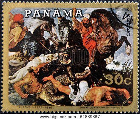 PANAMA - CIRCA 1980: A stamp printed in Panama shows