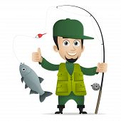 stock photo of fishing rod  - Illustration - JPG