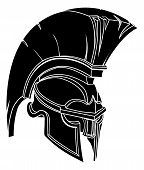stock photo of spartan  - An illustration of a spartan or trojan warrior or gladiator helmet - JPG