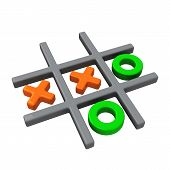picture of tic-tac-toe  - Naughts and crosses or tic tac toe game - JPG