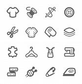 image of tailoring  - Simple set of tailoring related vector icons for your design - JPG