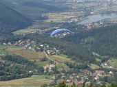 foto of zar  - Paragliding in the Żywiec' mountains. Start is at the mount Zar.