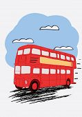stock photo of bus driver  - London double Decker red bus - JPG
