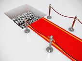 image of crusher  - Red carpet with crusher  - JPG