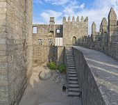 Guimaraes Castle interior, the most famous  castle in Portugal as it was the birth place of the firs