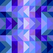 stock photo of zigzag  - Seamless vector blue pattern - JPG