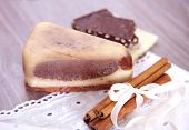Handmade soaps with chocolate and cinnamon