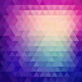 picture of parallelepiped  - Retro mosaic pattern of geometric texture from triangle shapes - JPG