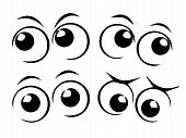 image of sad eyes  - cartoon eyes set  - JPG