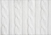foto of knitting  - Beautiful white wool hand knit patterns  - JPG