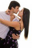 picture of ballroom dancing  - Couple dancing sensually - JPG