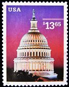 UNITED STATES OF AMERICA - CIRCA 2002: A stamp printed in the USA shows Dome of Capitol circa 2002