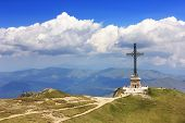 Caraiman Heroes Monument in Bucegi Mountains, Romania