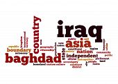 picture of iraq  - Iraq word cloud image with hi - JPG
