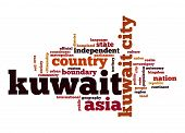 stock photo of kuwait  - Kuwait word cloud image with hi - JPG