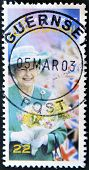 GUERNSEY - CIRCA 2003: A stamp printed in Guernsey shows Queen Elizabeth II circa 2003
