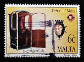 MALTA - CIRCA 1997: A stamp printed in Malta shows confessional circa 1997