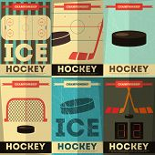 stock photo of hockey arena  - Hockey Posters Collection - JPG