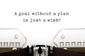 picture of objectives  - A goal without a plan is just a wish - JPG