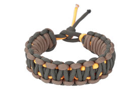 picture of paracord  - Tricolor paracord bracelet with clipping paths on white background - JPG