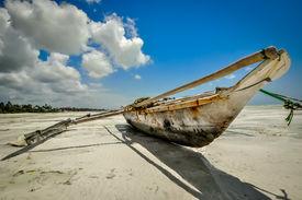image of slave-house  - Zanzibar beach and coral rocks bule green ozean Tanzania - JPG